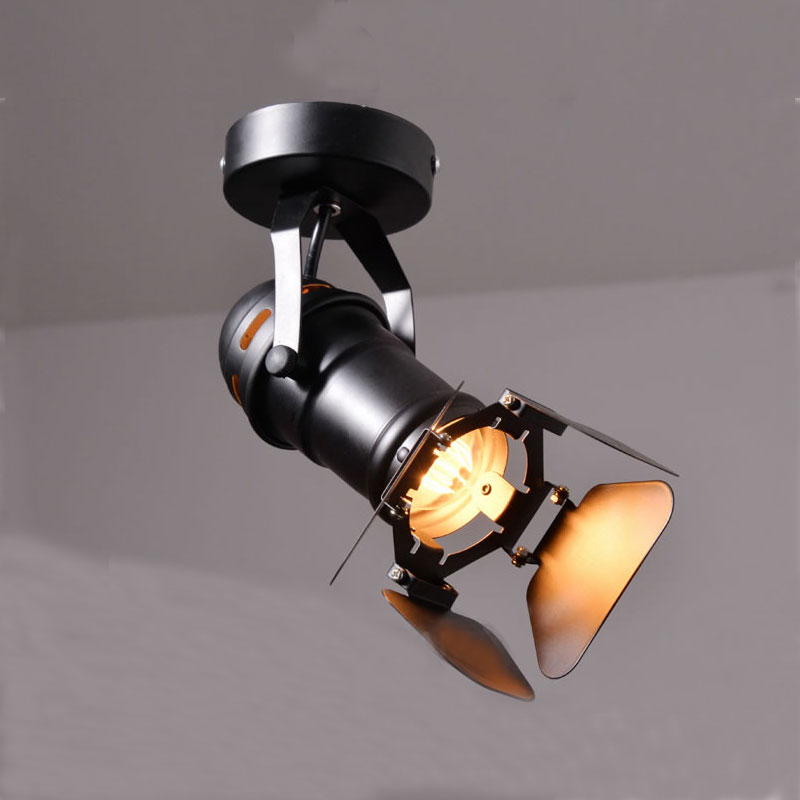 loft RH American rural industrial retro personality lighting ceiling lamps surface mounted track light with 1pcs 5W led bulb<br><br>Aliexpress