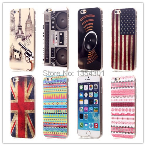 New American British flag Speaker Pattern Soft TPU Case Apple iPhone 6 6S Cover Phone Bag Protective Shell - IRS Trading Co.,Ltd store