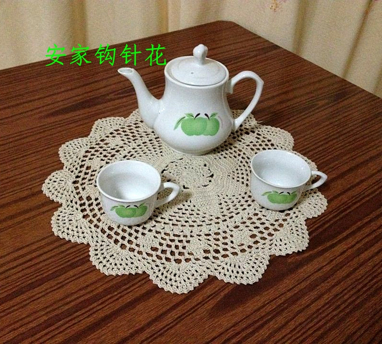 ZAKKA luxury 6 pic/lot cotton knitted coaster for home decor with flower tableware as innovative item for home decor tablemats(China (Mainland))