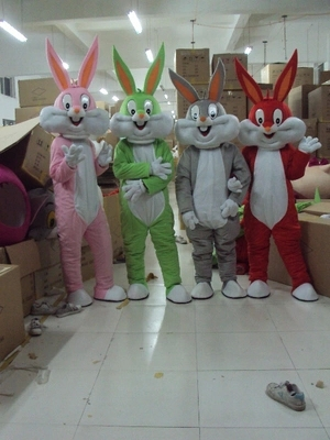 Bugs bunny mascot costume,adult size customized costume cartoon cosplay clothes suits mascot free shipping+Cardboard head()