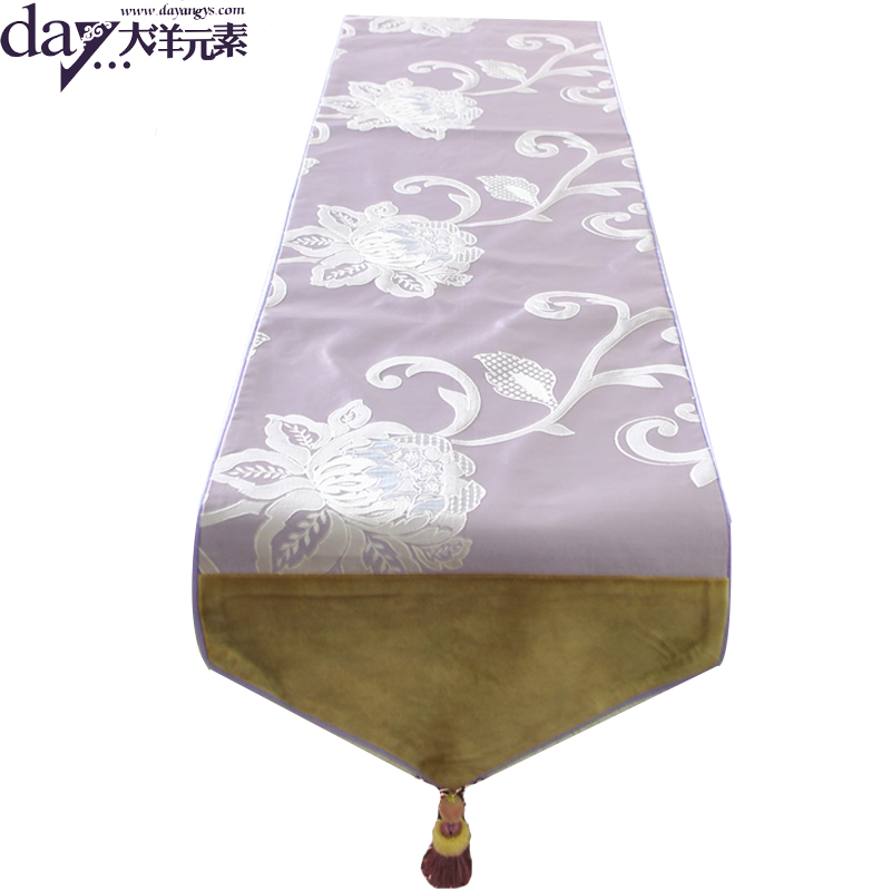 Table Runner For Wedding 120cm-220cm Embroidered Polyester / Cotton Fashion Pattern Home Hotel Runner Colors 2016 New(China (Mainland))
