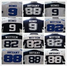 9 Tony Romo 82 Jason Witten 88 Dez Bryant Men's Game Football Jerseys Size:S-XXXL Embroidery Log(China (Mainland))