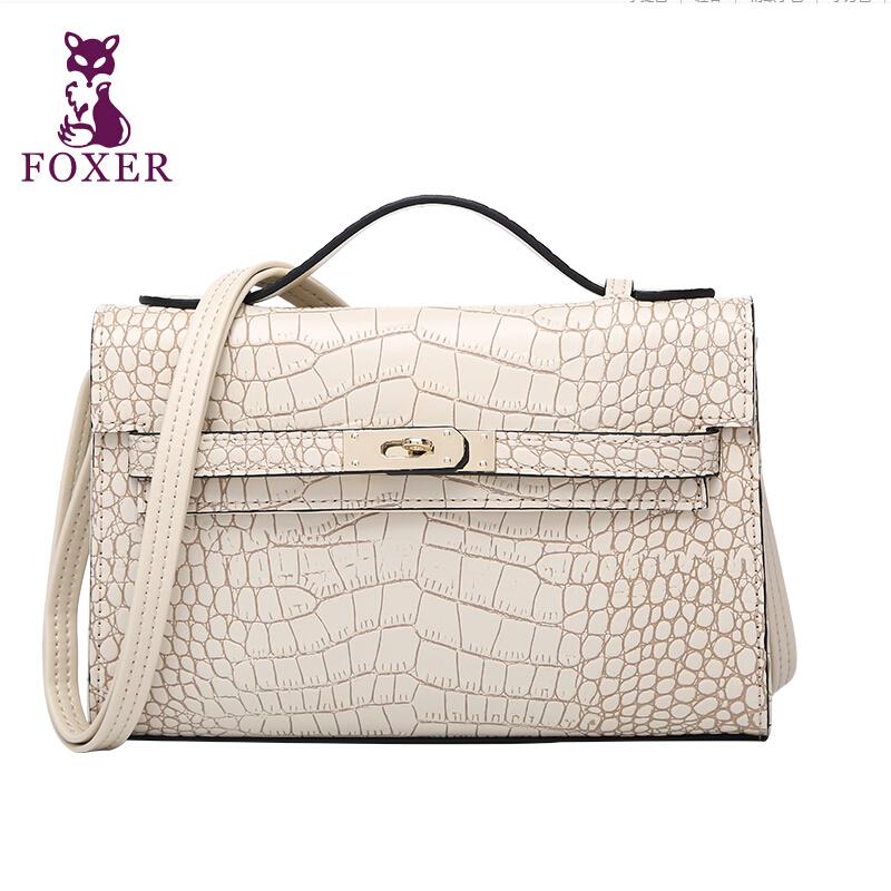 Фотография 2015 Hot Famous Brand Women Bag Fashion Foxer Height Quality Genuine Leather Women Handbags Women Alligator Cover Messenger Bags