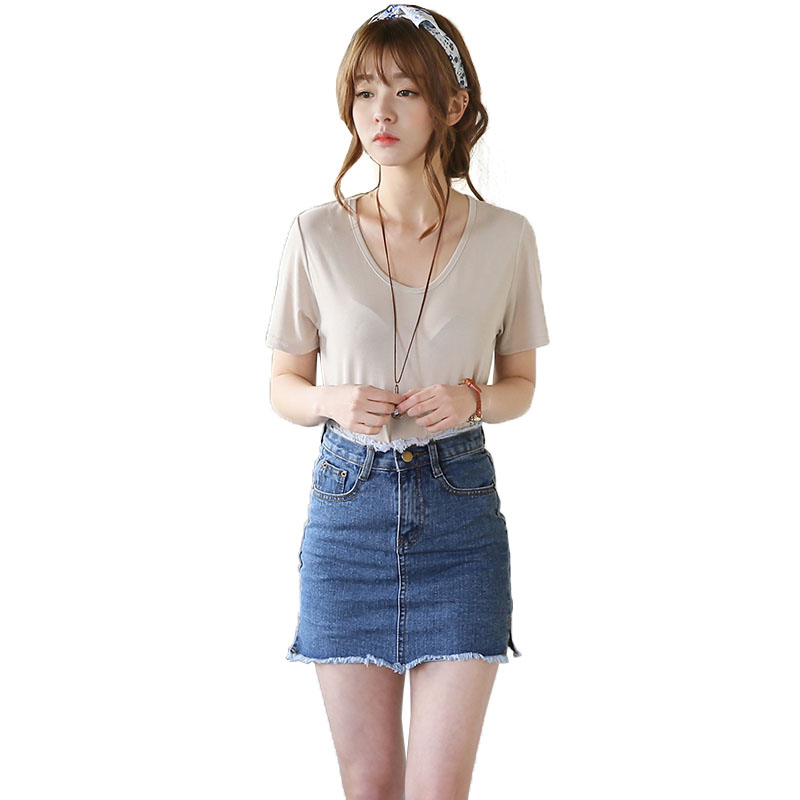 Creative NEW WOMENS BLUE DENIM A LINE MINI SKIRT BUTTON FRONT JEANS LOOK LADIES