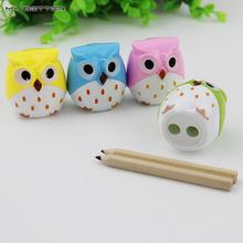 1pcs Kawaii Owl Pencil Sharpener Cutter Knife Learning Stationery(China (Mainland))