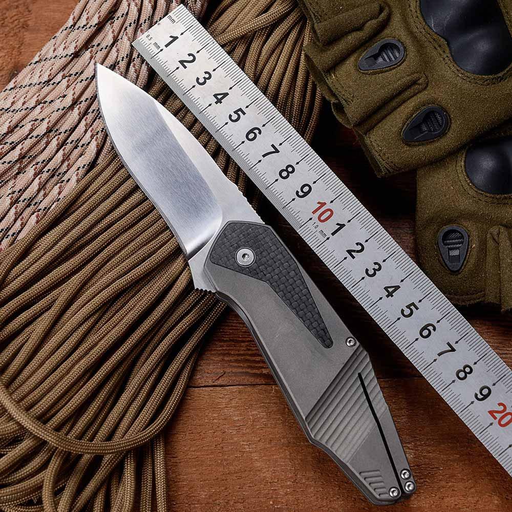 BOKER GTC Bearing Folding knife hunting Tactical knife D2 Blade Titanium + carbon fiber Handle Outdoor Camping knife EDC Tool(China (Mainland))