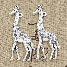 Buy 99Cents 4pcs Charms giraffe deer 53*23mm Antique Making pendant fit,Vintage Tibetan Silver,DIY bracelet necklace for $1.00 in AliExpress store