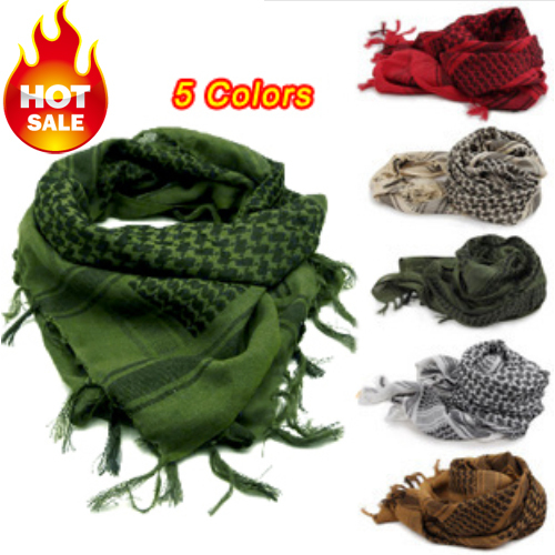 Men Winter Military Windproof Scarf Muslim Hijab Shemagh Tactical Shawl Arabic Keffiyeh Scarf 100% Cotton Fashion Women Scarf(China (Mainland))