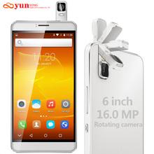 YUNSONG 6.0 inch YS8pro 16.0MP Rotating camera Mobile Phone MTK6580 Quad Core 1GB RAM 8GB ROM Smartphone Dual Sim Cell Phone(China (Mainland))