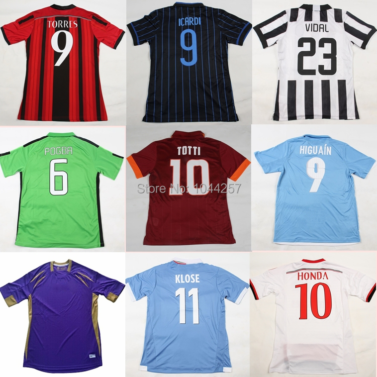 italy serie A 2015 napoli naples roman fiorentina florence lazio TORRES PAGBA football shirts kit camisa soccer jersey 14 15(China (Mainland))
