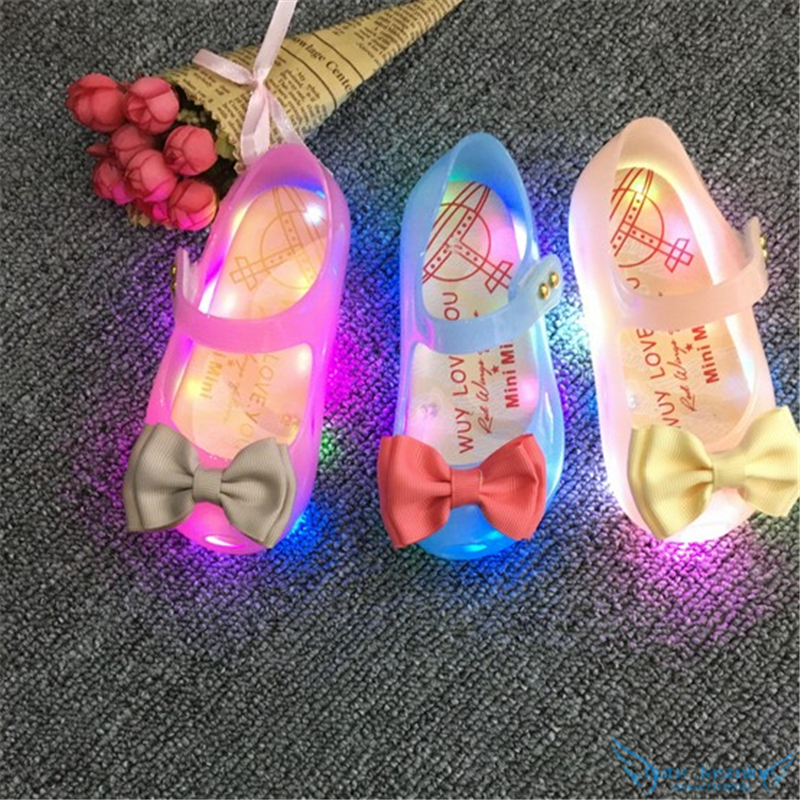 Ultragirl Mini Melissa Led Light Jelly font b Shoes b font 2016 Newest Fashion Baby Girl