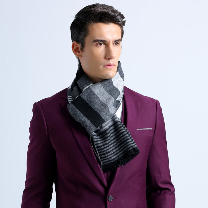 Fashion Necklace Scarfs Cotton Long striped Scarf Infinity Scarves for Men Shawl Designer Winter Scarf