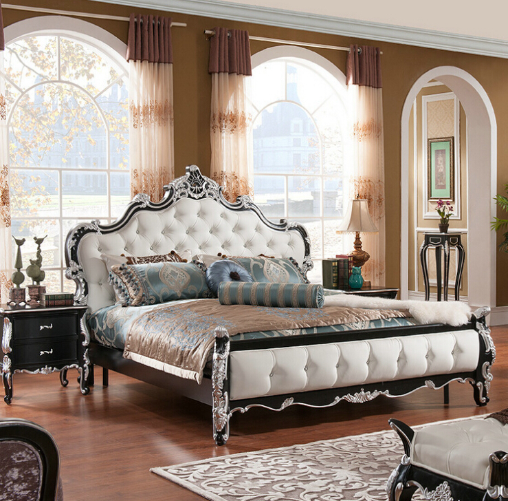 high quality European modern bed French bed bedroom furniture 1.8 m 7074(China (Mainland))
