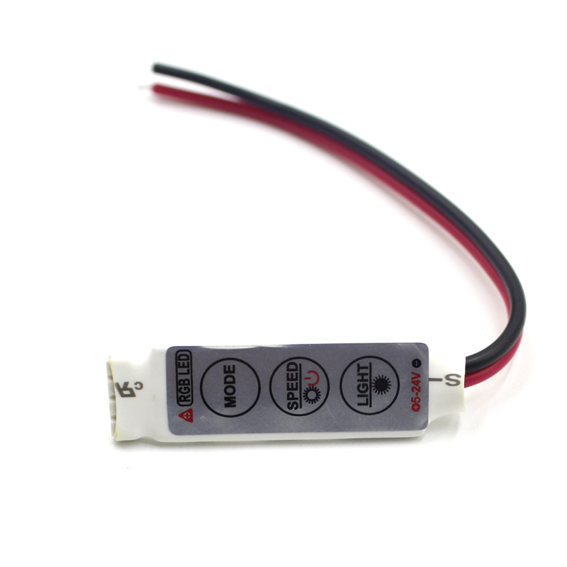DC 5V-12V-24V 12A 3Keys Mini LED RGB Controller Dimmer Driver For RGB 5050/3528/2835/5730/5630/3014 SMD LED Strip Lights