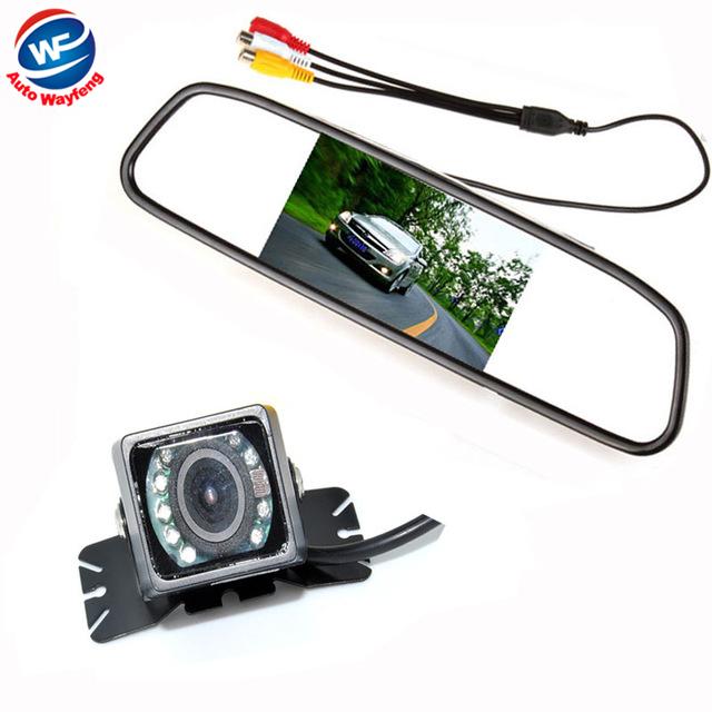Car Auto Parking Camera Monitors System, IR Night Vision Rear View Camera With 4.3 inch LCD Car Mirror Monitor Camera(China (Mainland))