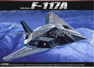 Academy model 12265 1/48 F-117A Stealth Attack-Bomber plastic model kit(China (Mainland))