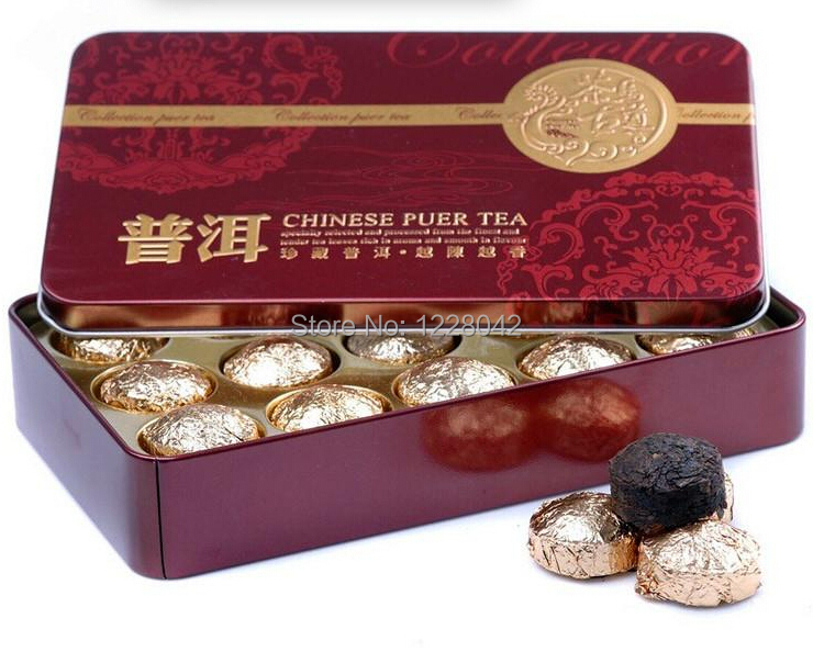 Hot Sale Black Tea Flavor Pu er, Puerh Tea, Chinese Mini Yunnan Puer Tea,Gift Tin box , Green Slimming Coffee Free Shipping(China (Mainland))
