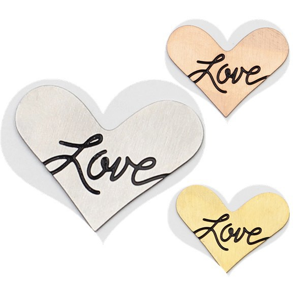 """Free Shipping! 316L Stainless Steel """"love"""" New Heart Plates for 35mm New Heart Locket(China (Mainland))"""