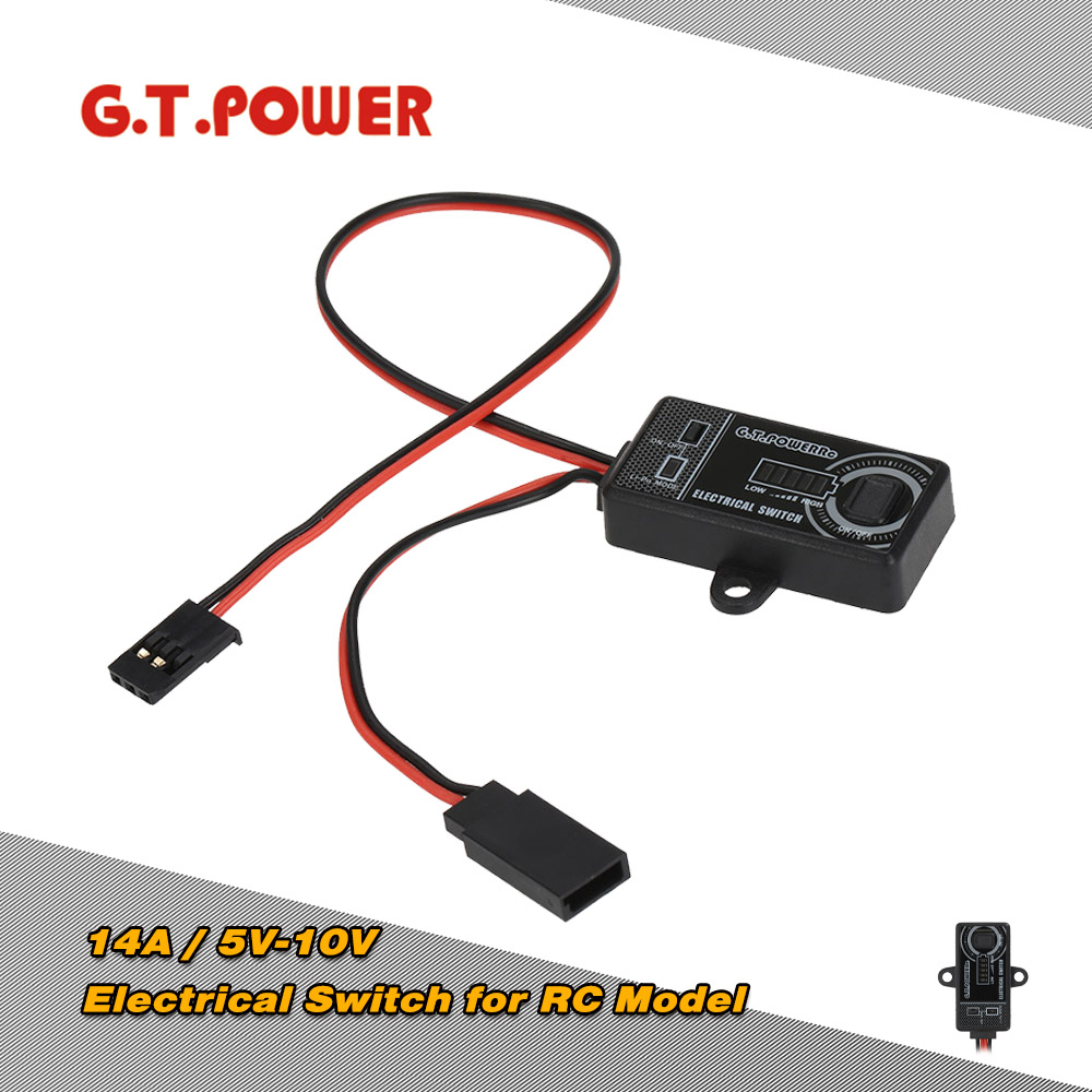 G.T.POWER 14A / 5V-10V Electrical Switch for RC Aircraft Helicopter Car Battery Away from Damage RC Hobbies Part Tool(China (Mainland))