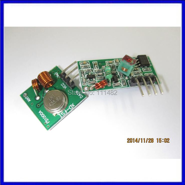 RF wireless receiver module & transmitter module board super regeneration 433MHZ DC5V (ASK /OOK) 1pair =2pcs(China (Mainland))