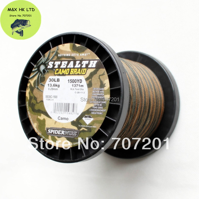 Spiderwire Stealth Camo Braid Fishing Line 1500yd 30lb 50lb 65lb 80lb