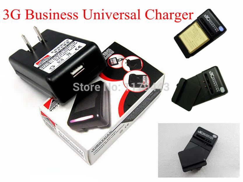 2PCS/lot 3G Black 360 degree rotation Business Battery universal charger With USB Port Output For HTC One X at AT&T(China (Mainland))