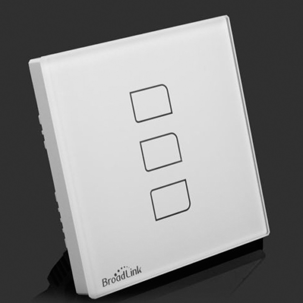 Broadlink TC2 3Gang Smart Touch Switch UK Standard RF433 Wall Switch Wifi Wireless Light Switch 110-240V Smart Home Automation
