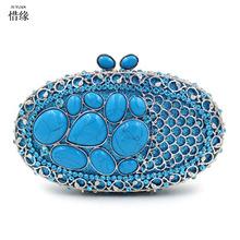 Buy XI YUAN BRAND luxury Chain Women hand Bag 2017 Fashion sapphire Evening Bags Classic Day Clutch purse Wedding Party Shoulder Bag for $186.00 in AliExpress store