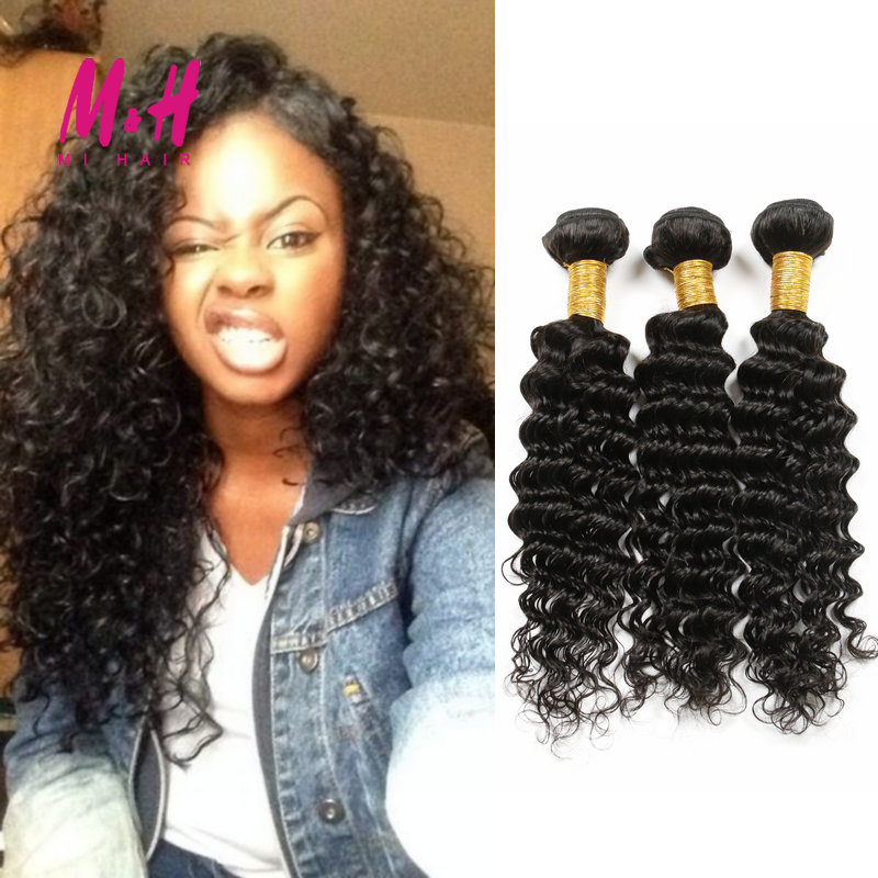 Vip Beauty Hair Malaysian Curly Hair Malaysian Deep Curly Virgin Hair 4 Bundles 100% Human Hair Weaves Malaysian Deep Wave