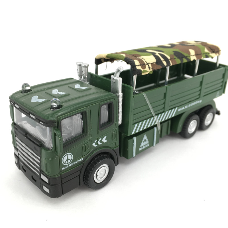 1:60 Die cast Metal + ABS Truck Toy Model Military Camouflage Car Kids Toys Brinquedos(China (Mainland))