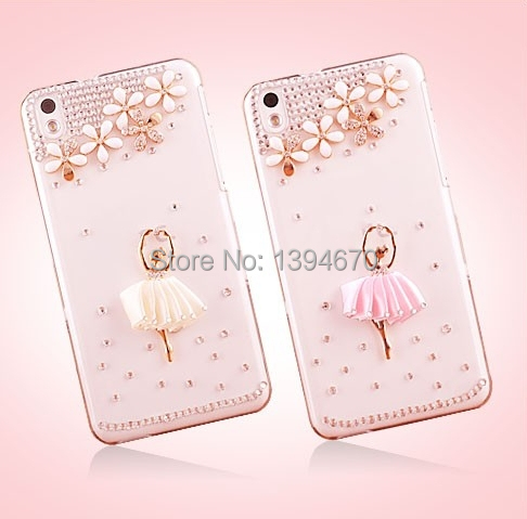 Bling crystal Ballet Girls five followers Diamond phone Case For Samsung Galaxy S3 S4 S5 Mini i8190 i9190 G800 Free Shipping(China (Mainland))