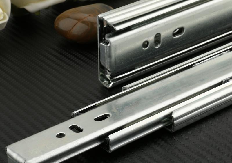 Drawer slides three ball rail track mute thickening hardware accessories computer desk rail package(China (Mainland))