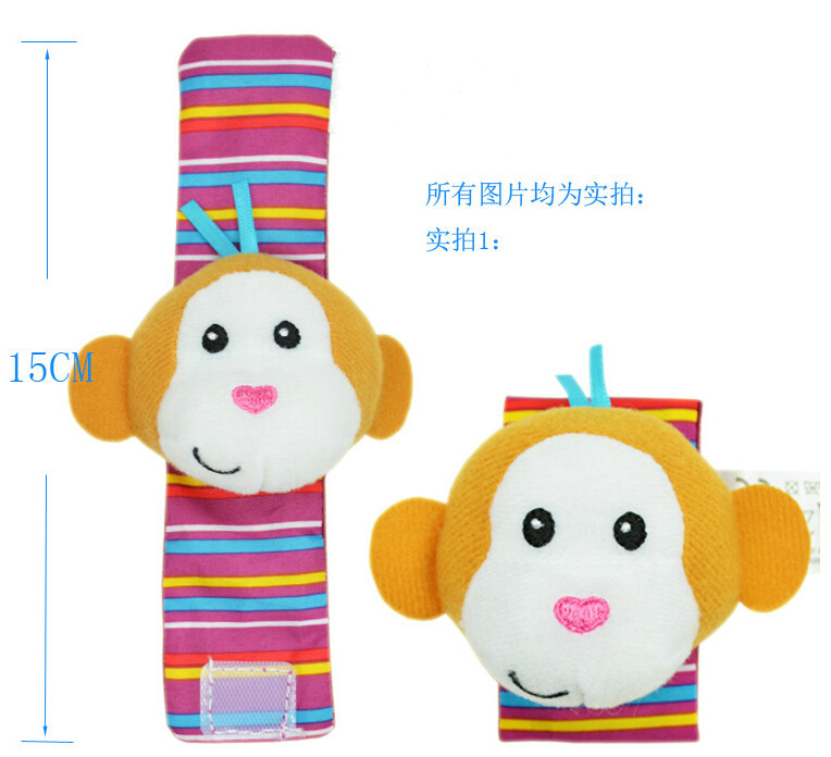 4pcs /lot kid gift wrist rattle foot finder,baby toy wrist rattle+foot sock, oddler Infant Plush toys