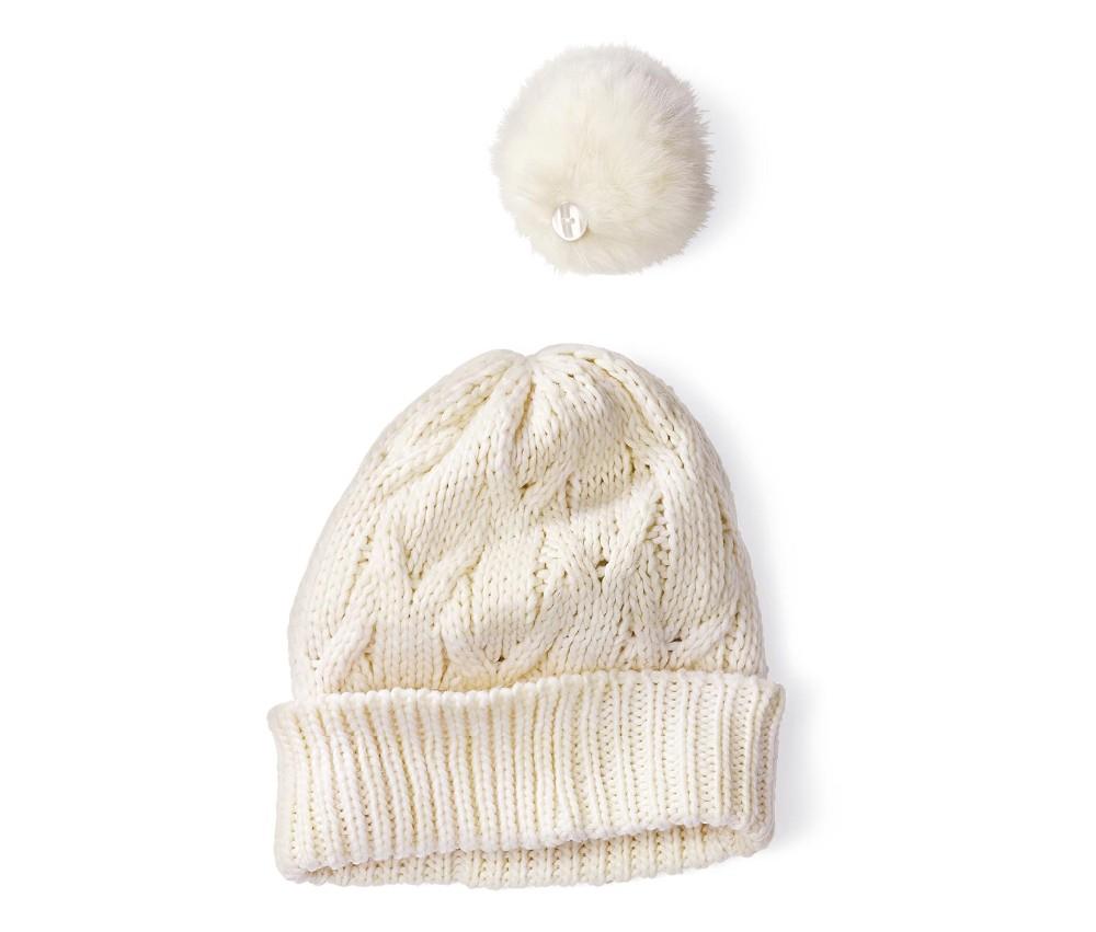 Женский белый шарф шляпа комплект для катания на лыжах животных искусственного меха кольцо шарф шапочка с шерсть зимняя шапка и шарф комплект для женщин