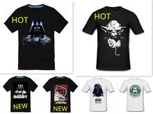 Voimale star wars fashion print casual male 100% cotton short-sleeve T-shirt$ 13.5 Free shipping