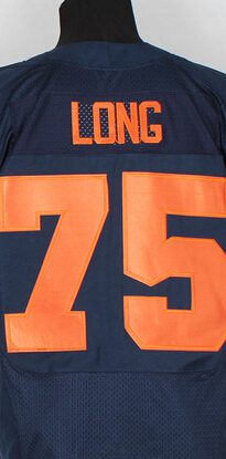 Kyle Long jersey authentic throwback America football elite jersey #73 blue black white shirt,size small 3XL(China (Mainland))