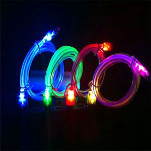 Free Shipping 20cm Light Up LED Crystal USB Data Sync Mobile Cell Phone Charger Cable For HTC LG Samsung Galaxy S3 S4(China (Mainland))