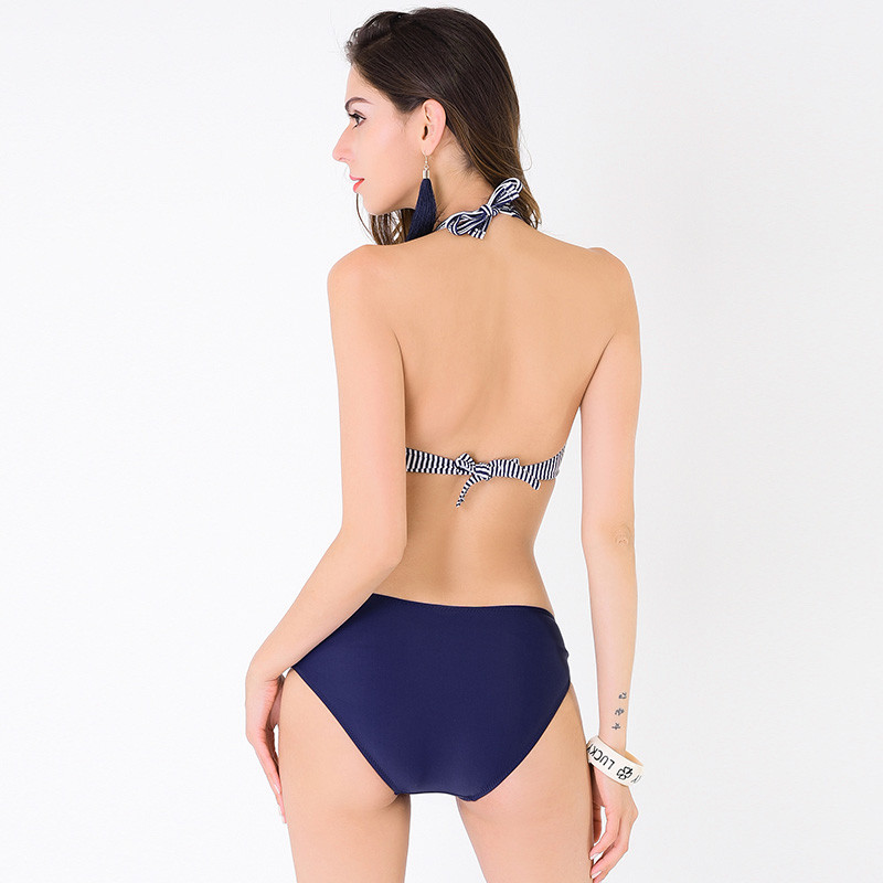 The new 2016 stripes sexy bikini steel bracket, can remove the sponge cup Exempt postage to buy 2 pieces of 9.5 fold(China (Mainland))