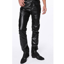 high quality cool mens black leather pants for men windproof waterproof winter Autumn spring Free shipping