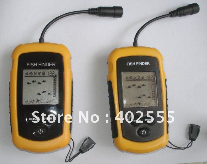 Portable Sonar LCD Fish Finder, Alarm 100M AP,fishing iure,ice fishing finder 12M cable dropshipping