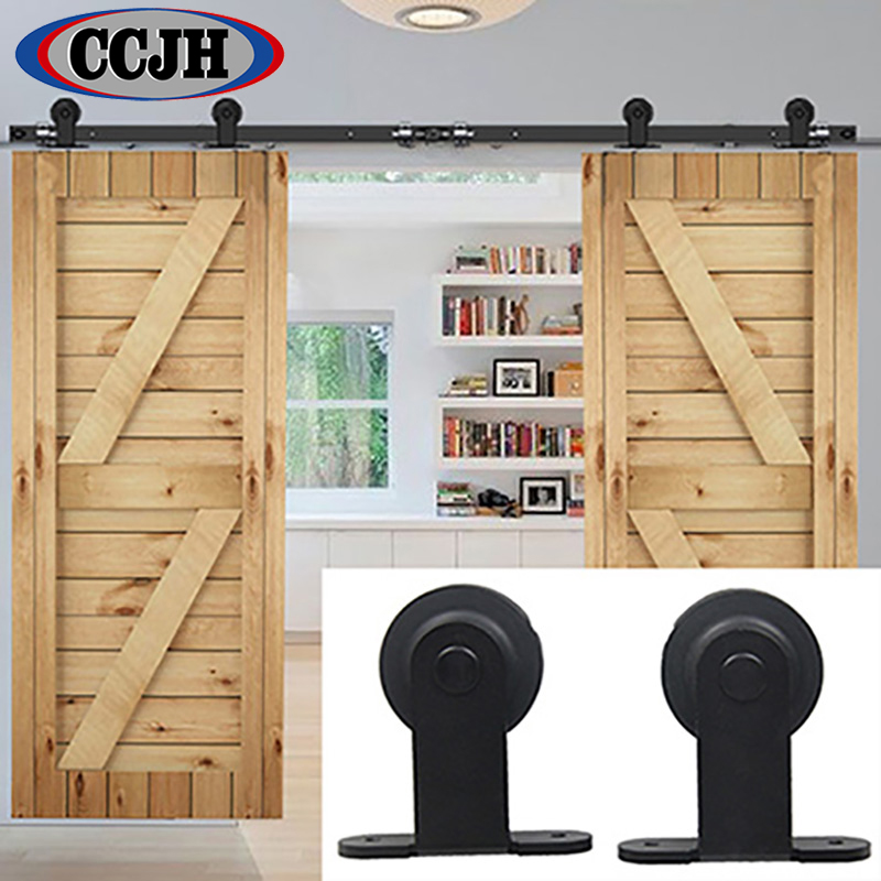 Barn door roller kit do it yourself installing barn door for Exterior sliding barn door hardware