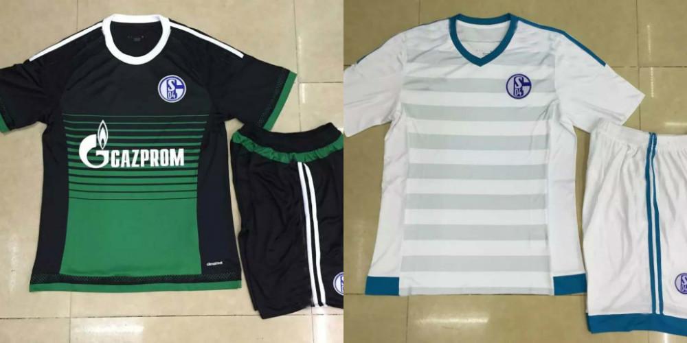 A+ Normal quality! 15/16 Schalke 04 white soccer jersey uniform,Schalke 04 football shirt equipment kit, 1set free per 20sets(China (Mainland))