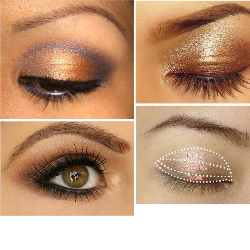 Смоки косметическая комплект 3 цвета профессиональный природный матовый тени для век макияж тени для век палитра ню тени для глаз с блестками