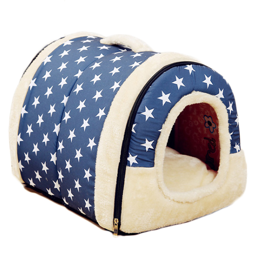 High Quality Pet Cat House Foldable Soft Comfortable Winter Leopard Dog Bed Dog House Cute Kennel Nest Dog Cat Bed 62.5 ZYH(China (Mainland))