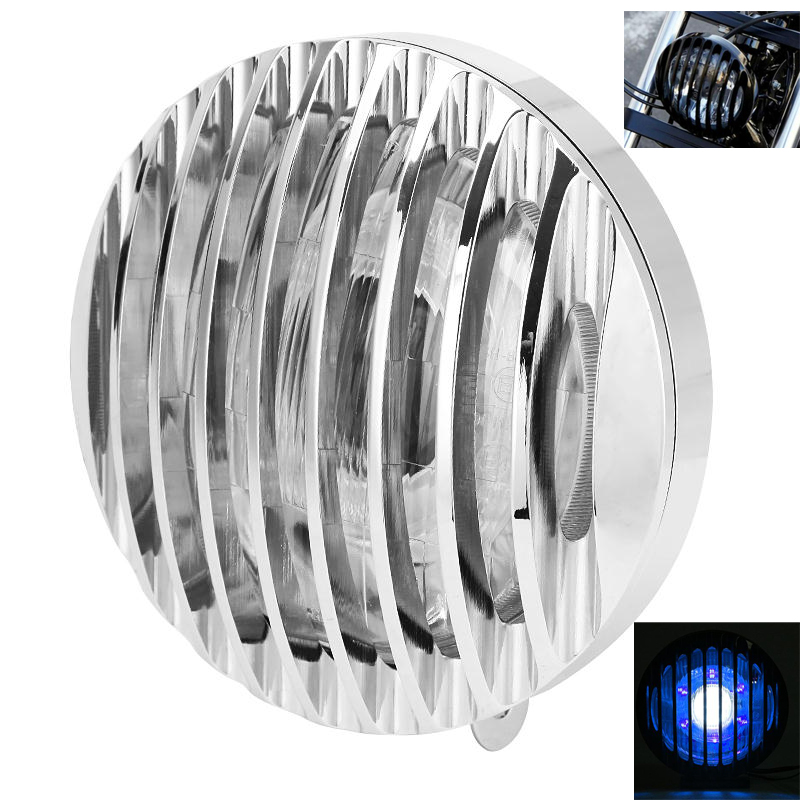 Black Motorcycle Headlight Assembly Projector HID Angel Eye And Grill For Harley Sportster XL883 XL1200 04-14(China (Mainland))