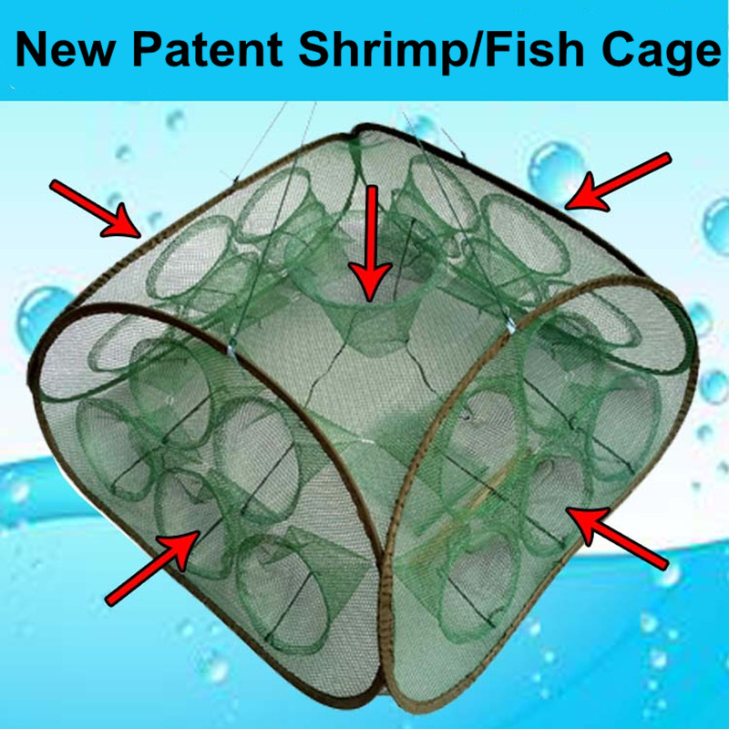 21 Inlets Syncronisation Cage Automatic Shrimp Cage Folding <font><b>Fishing</b></font> <font><b>Net</b></font> Cage Cast <font><b>Fishing</b></font> <font><b>Net</b></font> Tackle