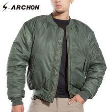 S. ARCHON MA1 Tactical Piloto da Força Aérea Bombardeiro Militar Homens Jaqueta de Inverno Quente Casaco Jaqueta Acolchoada À Prova de Vento Da Motocicleta Do Exército jaqueta(China)