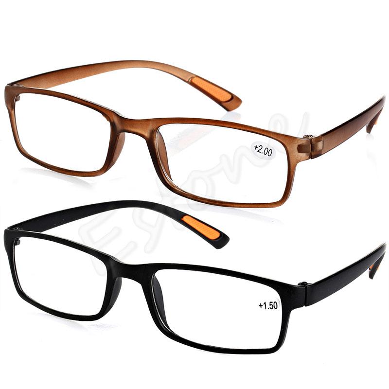 New Resin Framed Eyeglass Reading Glasses +1.0 1.5 2.0 2.5 3.0 3.5 4.0 Diopter