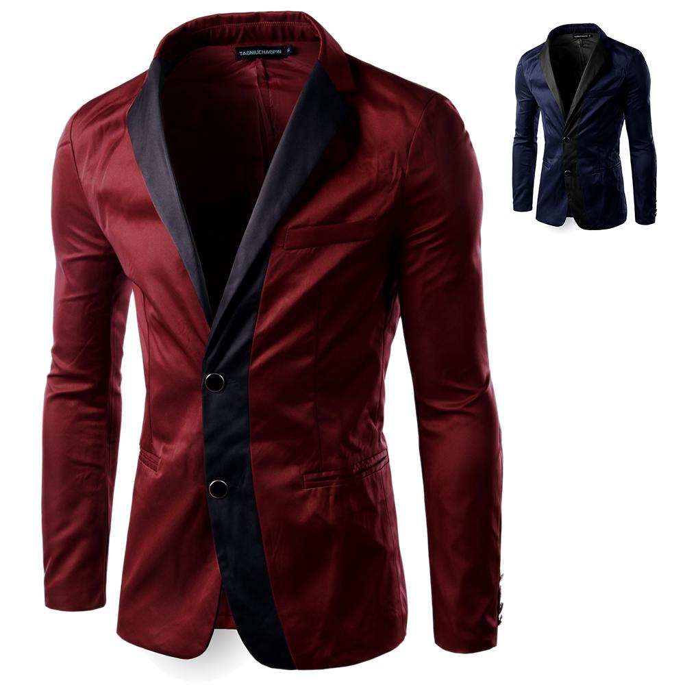 2015 New Fashion Casual Blazer Men Fashion Slim Fit Jacket Masculine Blazer Coat Button Suit Men Formal Suits jacket BXZ019