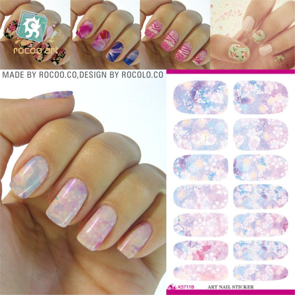 2pcs/lots 2016 Limited Real The Explosion Of Water Transfer Printing Stickers Manicure Beauty Nail Can Be Customized K5711b(China (Mainland))